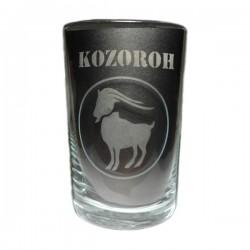 """Sklenička se znamením """"KOZOROH"""", varianta 2"""