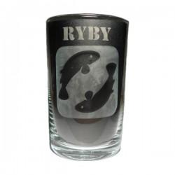 """Sklenička se znamením """"RYBY"""", varianta 1"""