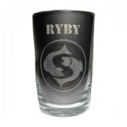 """Sklenička se znamením """"RYBY"""", varianta 2"""