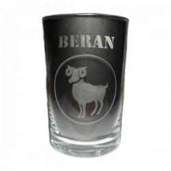 """Sklenička se znamením """"BERAN"""", varianta 2"""